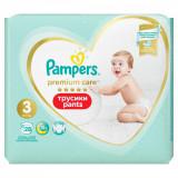 Scutece chilotel Premium Care Pants Carry Pack marimea 3 Midi pentru 6-11 kg, 28 bucati, Pampers