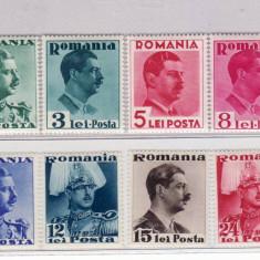 Romania   1940   Carol II      culori  schimbate
