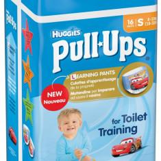 Scutece-chilotel Huggies Pull-Ups 4/S, Baieti, 8-15 kg, 16 buc