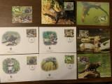 Coasta de fildes - vidra - serie 4 timbre MNH, 4 FDC, 4 maxime, fauna wwf