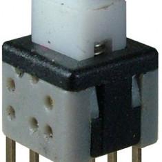 Push buton 5,8x5,8mm, cu retinere - 124497
