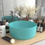 VidaXL Chiuvetă baie lux verde deschis mat 40x15 cm ceramică rotund