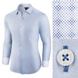 Camasa pentru barbati, casual, bleu, regular fit - Business Class Ultra, L, M, S, XL, Maneca lunga