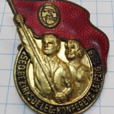 Insigna DDR 1958 - Conferinta SED