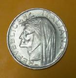 SV * Italia  500  LIRE  1965 * ARGINT * INFERNUL * DANTE ALIGHIERI     AUNC +, Europa