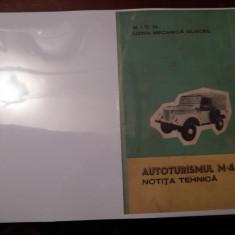 AUTOTURISMUL M 461  ,NOTITA TEHNICA (IMS)  COPIE