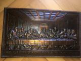 Tablou,panoplie veche italiana,Cina cea de taina,basorelief metalic
