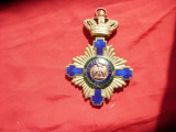 Ordinul Steaua Romaniei in grad de Mare Cruce –, argint si email