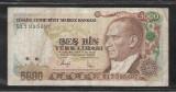 Turcia 5000  Lire 1970