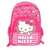 Ghiozdan Hello Kitty, clasa 0, 1 compartiment, impermeabil, magenta