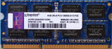 Cumpara ieftin Memorii Laptop Kingston 4GB DDR3 PC3-10600S 1333Mhz