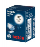 Cumpara ieftin Bec auto auto cu halogen H7 12V 55W PX26D pana la 2x viata mai lunga Longlife Daytime, Bosch