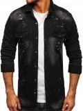 Cămașă de blugi neagră mâneca lungă Bolf R705
