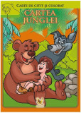 Cartea junglei. Carte de citit și colorat