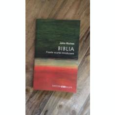 BIBLIA-FOARTE SCURTA INTRODUCERE, DE JOHN RICHES