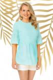 Bluza Pretty Girl mint de vara cu broderie englezeasca