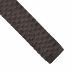 Cravata maro tricotata casual Edmund