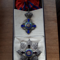 Ordinul Steaua Romaniei ,Mare Cruce model 1877  Kretly in cutia originala argint