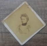 Portret domnisoara// S. Korn Bucuresti, format atipic