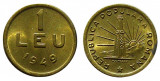 u480 ROMANIA 1 LEU 1949 UNC NECIRCULATA