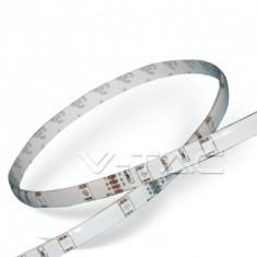 Bandă LED SMD5050 - 30 LED RGB, IP65/silicon/ V-Tac SKU 2118