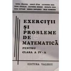 Exercitii si probleme de matematica pentru clasa a IV-a