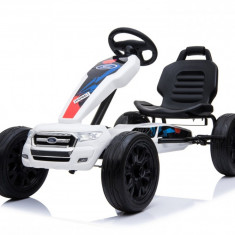 Kinderauto GO Kart cu pedale de la FORD Alb