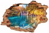 "Sticker ""Wall Crack"" Lake 3 - 120 x 80 cm"