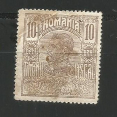 No(09)timbre fiscale Romania - 1916 Ferdinand bust 10 bani timbru fiscal