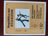 Ecuador - Timbre sport, jocurile olimpice 1984, nestampilate MNH, Nestampilat