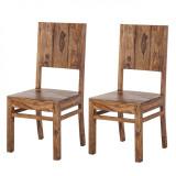 Set de 2 scaune Ohio din lemn masiv Sheesham