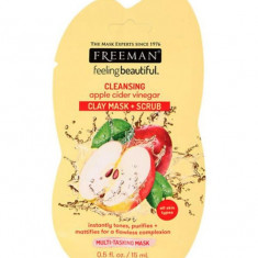 Masca de curatare multifunctionala FREEMAN Cleansing Apple Cider Vinegar Clay Mask 15 ml