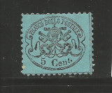 Italy Church State 1868 Coat of arms 5C Mi.21a MLH AM.311