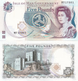 Insula Man Isle of Man 5 Pounds 1972 UNC