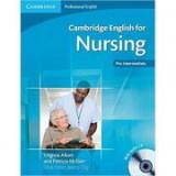 Cambridge: English for Nursing Pre-intermediate - Student's Book (with Audio CD)