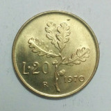 Italia - 20 lire - 1970 (monedă, M0068)
