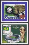 Salvador  1998/2002  sport  fotbal  bl.50, 56     MNH  w59