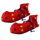 Cumpara ieftin Papuci clown, supradimensionati, model stelute si buline, material moale, ProCart