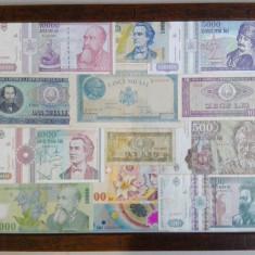 Tablou cu bancnote vechi romanesti, originale