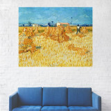 Tablou Canvas, Peisaj Auriu, La Seceris - 80 x 100 cm