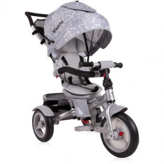 Tricicleta Multifunctionala 4 in 1 Neo Air, cu Roti Mari cu Camera, Colectia 2019 Light Dark Grey, Lorelli