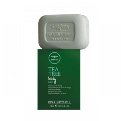 Sapun de barbierit Tea Tree Body Bar, 150 ml, efect antibacterian foto