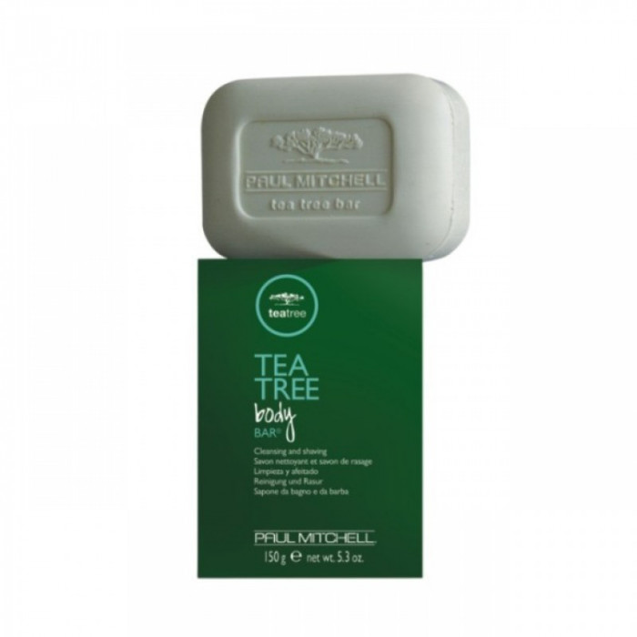 Sapun de barbierit Tea Tree Body Bar, 150 ml, efect antibacterian