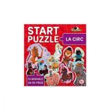 Puzzle 4 in 1 cu tematica la circ pentru copii, 26 de piese, Noriel, Carton