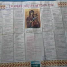 CALENDAR CRESTIN ORTODOX 2003