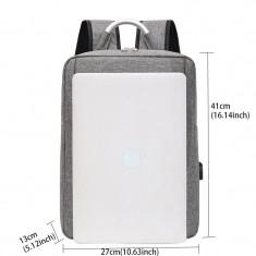 Rucsac Smart multifunctional slim, usb, gri OX7
