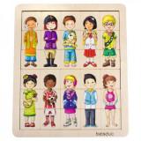 Puzzle amesteca si potriveste Copiii lumii Beleduc, 30 de piese