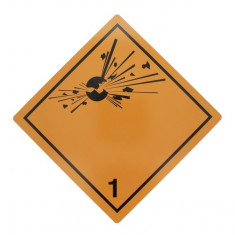 Tablita placa avertizare marcaj ADR 1 , Cargoparts