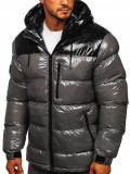Cumpara ieftin Geacă de iarnă bărbați gri matlasată Bolf 6462