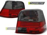 Stop stopuri triple Volkswagen VW Golf IV 4 tuning rosu/fumuriu NOU, GOLF IV (1J1) - [1997 - 2005]
